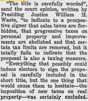 California Proposition 1, Single Tax on Land to Replace