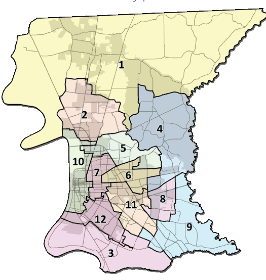 Baton Rouge Council Map Png