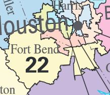Map Of Texas District 6.Texas 22nd Congressional District Ballotpedia