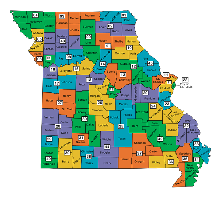 Missouri Local Trial Court Judicial Elections Ballotpedia - 2016 election us map county