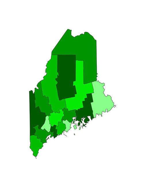 Template:Maine counties map - Ballotpedia