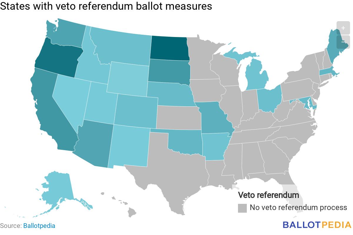 List of veto referendum ballot measures - Ballotpedia