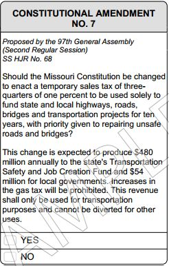 Missouri Temporary Sales and Use Tax Increase for Transportation ...