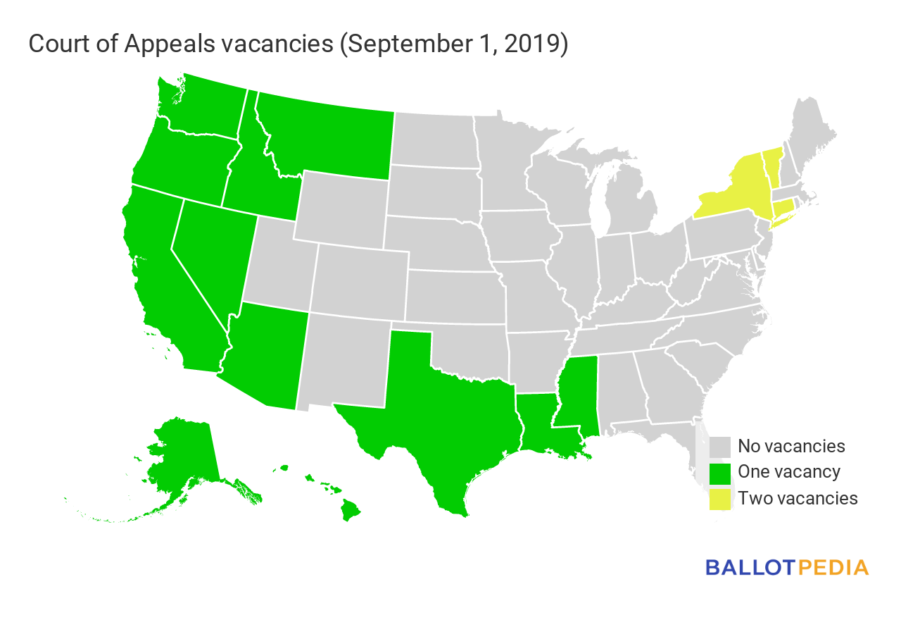 Court of Appeals vacancies map 2