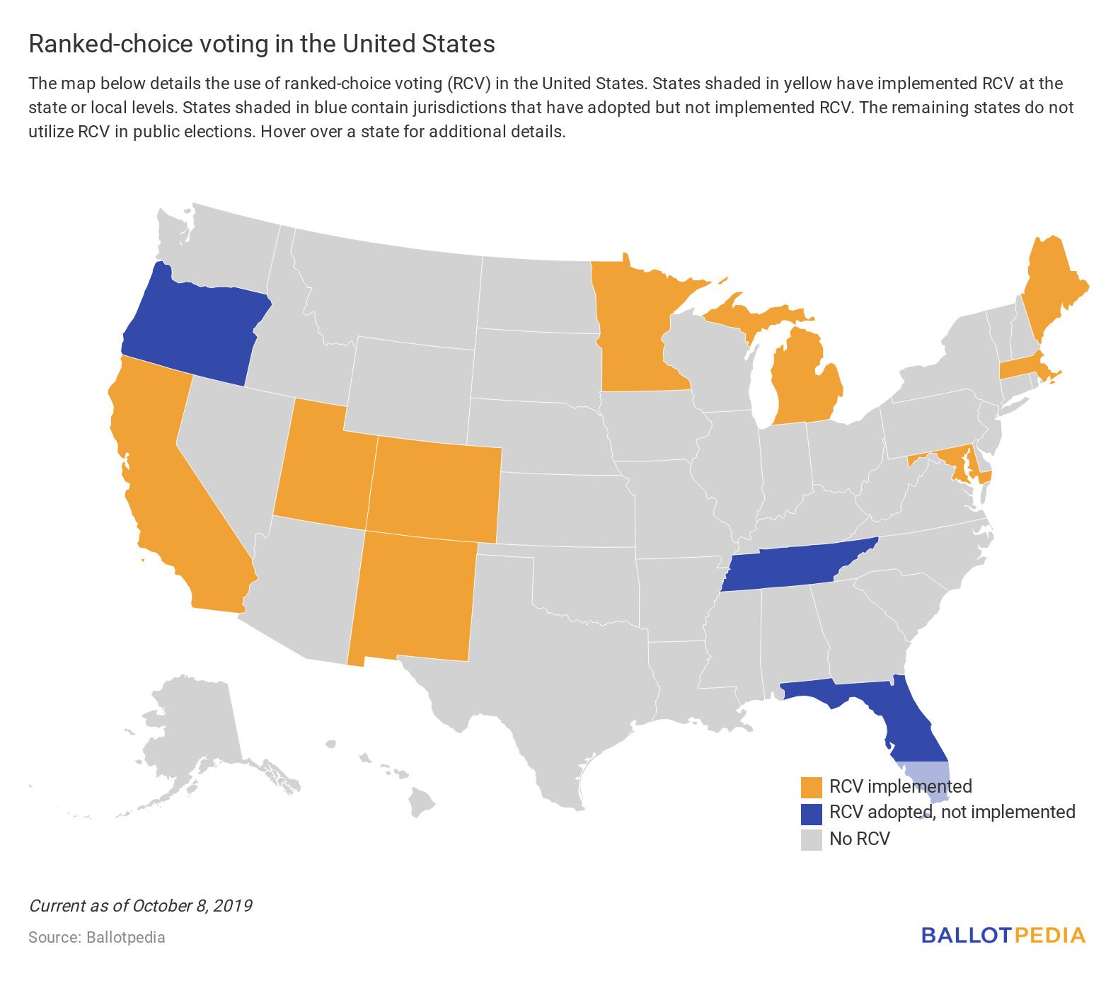 Ranked-choice voting map