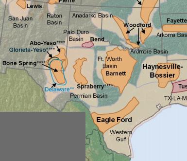 Map Of Western Texas.Fracking In Texas Ballotpedia