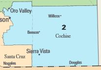 Map Of Arizona Voting Districts.Arizona S 2nd Congressional District Ballotpedia