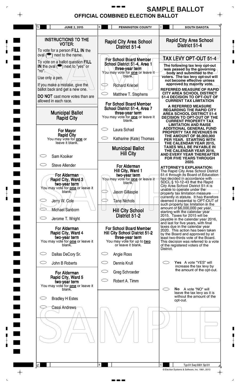 Rapid City Area School District elections (2015) - Ballotpedia